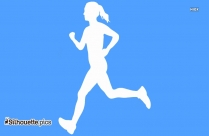 Athlete Running Hard Silhouette