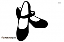 free ballet shoes silhouette