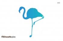 Flamingo Silhouette, Vector Image