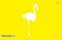 Flamingo Bird Silhouette Drawing