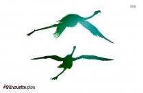 Free Flamingos Flying Silhouette