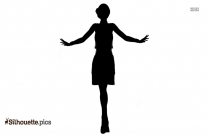 Flapper Girl Dancing Silhouette