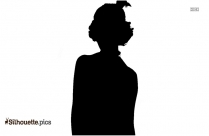 Girl With Headphone Silhouette Image