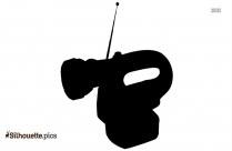 Flashlight Radio Black And White Silhouette