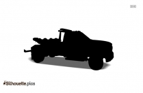 Free Cartoon Hauling Truck Silhouette, Clipart