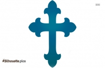 Christian Cross And Dove Silhouette Picture