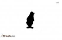 Funny Cartoon Zebra Silhouette