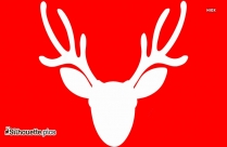 Floral Antler Silhouette Image