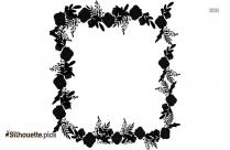 Wedding Flower Crown Symbol Silhouette