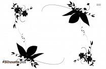 Vintage Floral Border Silhouette