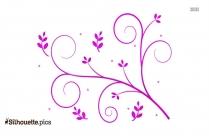 Floral Design Clip Art Image Silhouette