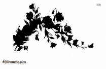 Flowers Border Silhouette Image