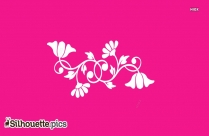 Floral Silhouette Pink Background