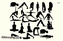 Flow Yoga Poses Silhouette