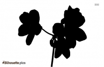 Flower Background Silhouette Clipart