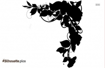 Hibiscus Flowers Border Silhouette
