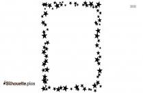 Stars Border Silhouette Vector