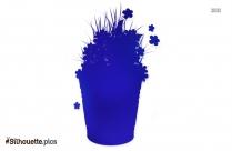 Flower Bucket Symbol Silhouette