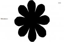 Cartoon Daisy Flower Silhouette Image