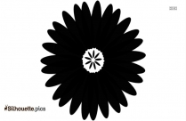 Black And White Rose Flower Silhouette