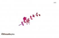 Simple Flower Border Silhouette Vector