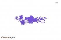 Flower Divider Silhouette Icon