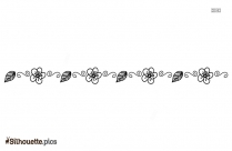 Flower Divider Silhouette Vector And Graphics Download