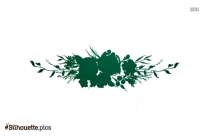 Flower Divider Silhouette Drawing