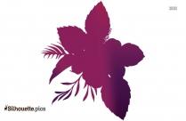 January Flower Clipart || Groovy Flower Silhouette