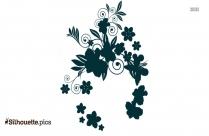 Stephanotis Flowers Silhouette