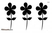 Flowers In Garden Clip Art Silhouette