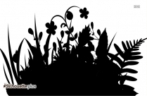 Garden Flowers PNG Silhouette