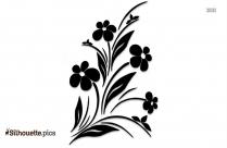Easter Flower Clipart Silhouette