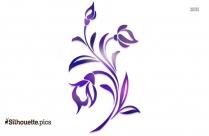 Poinsettia Flower Silhouette Image