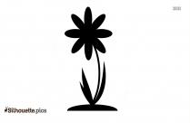 Flower Design Silhouette Vector