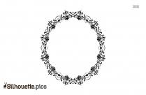 Flower Ring Frame Silhouette