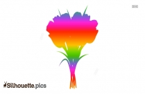 Flower Silhouette Painting Image
