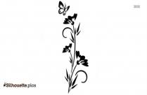 Decoration Silhouette Floral Print