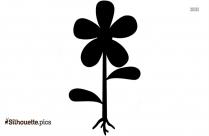 Freesia Flower Silhouette Clipart Icon