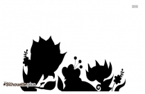 Cartoon Flowers Silhouette, Clipart