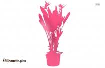 Plant In Vase Silhouette