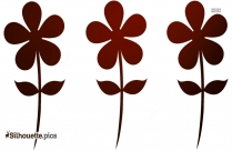 Carnation Flowers Silhouette