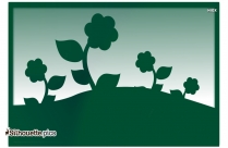 Garden Flowers Silhouette Vector And Graphics