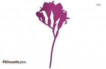 Freesia Flower Silhouette