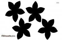 Cartoon Boho Beautiful Flower Silhouette