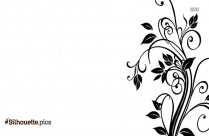 Abstract Flower Clipart Silhouette