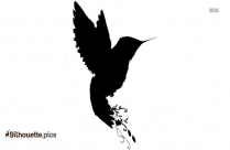 Cartoon Birds Flying In The Sky Silhouette Background