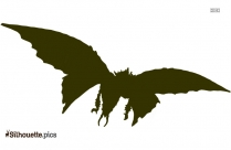 Flying Dragon Silhouette Drawing