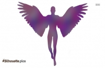 Flying Angel  Clipart || Guardian Angel Silhouette