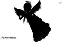 Beautiful Angel Silhouette, Angel Tattoo Clipart Icon